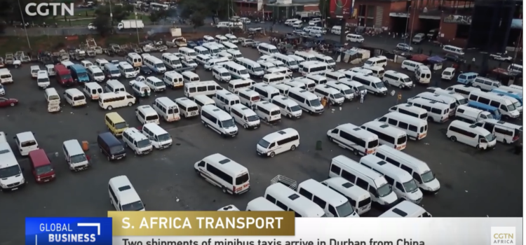 Two shipments of taxis arrive in Durban from China