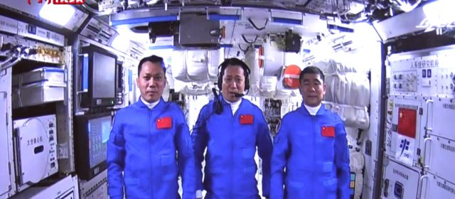 Chinese astronauts in first spacewalk in more than decade
